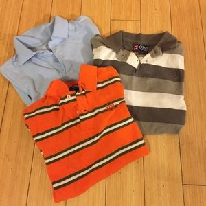 Bundle of 3 lightly used boys Chaps polos